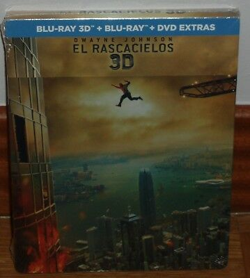 The Skyscraper Blu-Ray 3D+Blu-Ray+Br Extras New Steelbook (Unopened) R2