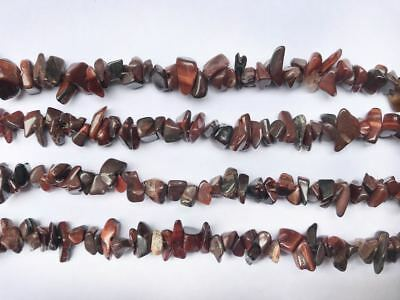 6-8mm Natural Red Tiger's Eye Chips Beads Jewelry Gemstone Freeform Strands 16""