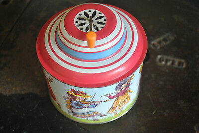 Vintage Chidren's Toy Musicical Box. Classic German Made Child's Tin Toy