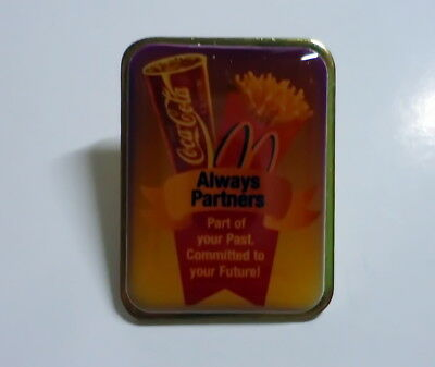 McDonald's Pin - Coca-Cola McDonalds Always Partners - 25mm - McDonald