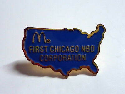 McDonald's Pin - First Chicago NBO Corporation - 25mm - McDonald / McDonalds