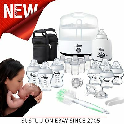 Tommee Tippee Closer to Nature Complete Baby Feeding Set│Quick Steriliser│Safe
