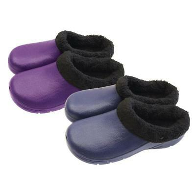 New Briers Thermal Lined Garden Clogs Unisex Navy UK Size 7