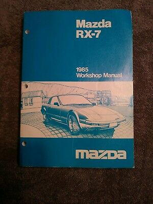 1985 Mazda RX-7 Service Workshop Manual with Wiring Diagrams Near Mint Condition
