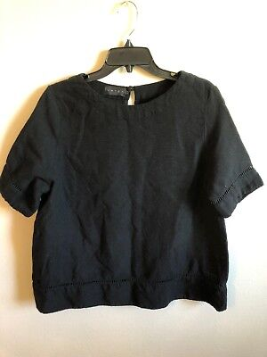 Hatch Black Woven Maternity Top Size 2