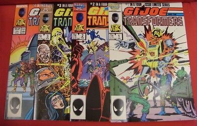 G.i. Joe Transformers 1-4 Marvel Comic Set Complete Higgins Trimpe 1987 Nm