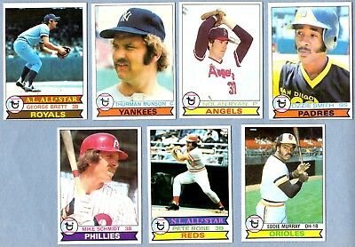 1979 Topps Baseball Complete Set (726/726) Ozzie Smith ++ Exmt Nm Rc In Binder