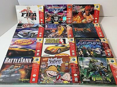 Lot Of 12 AUTHENTIC Nintendo 64 N64 Boxed Games TESTED Great Shape!