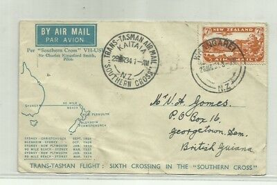 NEW ZEALAND 1934 f/f cover
