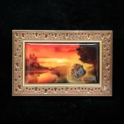ACME Hot Art Princess Belle Beauty And The Beast Sunset Romance Frame Disney Pin