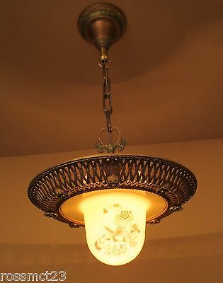 Vintage Lighting 1920s rare Bird of Paradise chandelier