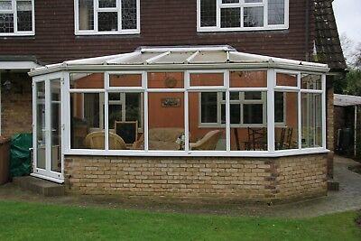 Used white upvc conservatory - complete with internal roof blinds