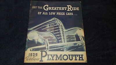 1939 deluxe plymouth brochure