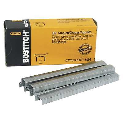 Stanley Bostitch B8 PowerCrown Staples, Silver, Pack of 5000