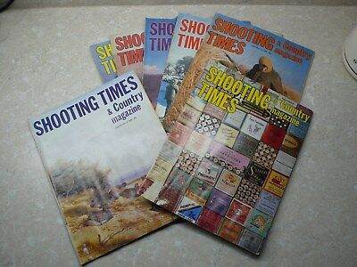 7 copies of Shooting Times Magazine 1979-1980