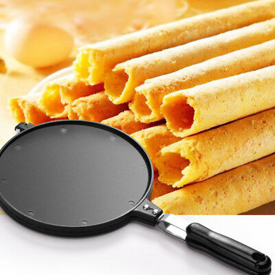 Cooking Ice Cream Waffle Maker Crispy Cone Baking Pan Egg Roll Omelet Machine