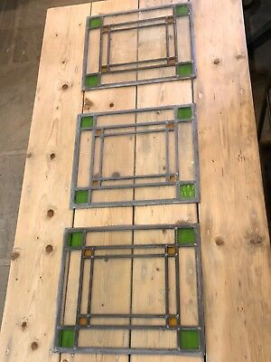 Hand made stained glass panel with lead came surround