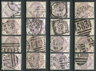 (145) 16 VERY GOOD USED SG190 QV 2&1/2d LILAC FOR SHEET RECONSTRUCTION