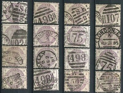 (146) 16 VERY GOOD USED SG190 QV 2&1/2d LILAC FOR SHEET RECONSTRUCTION