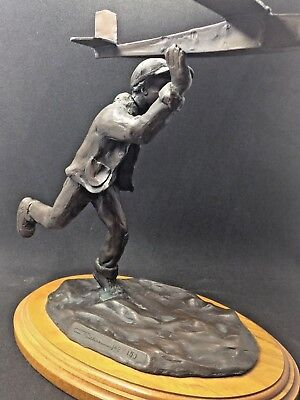 Bronze Statue- FLIGHT SCHOOL by Christopher Bell **Former Museum Display**