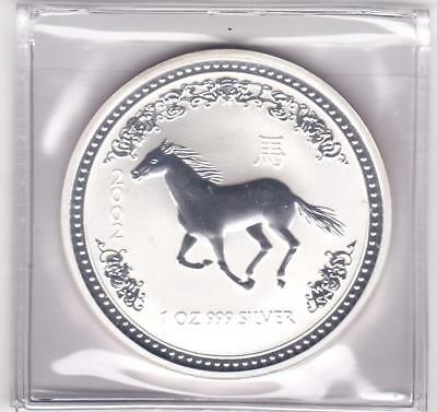 2002 1 oz Australian Silver Lunar Series 1 Year of The Horse