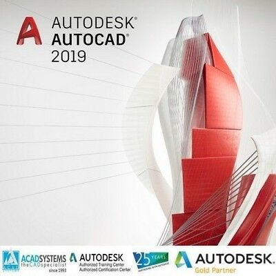 AutoDesk AutoCad 2018 2019 3 Years License Email Delivery
