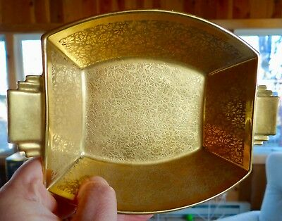 Noritake Art Deco Bowl Blank Decorated By Pickard, USA! Stunning Gold Luster