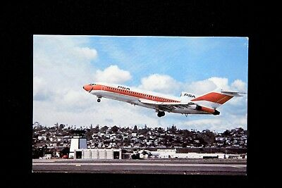 PSA Vintage 1977 California 727 Postcard Pacific Southwest Airlines NEW SAN Gift