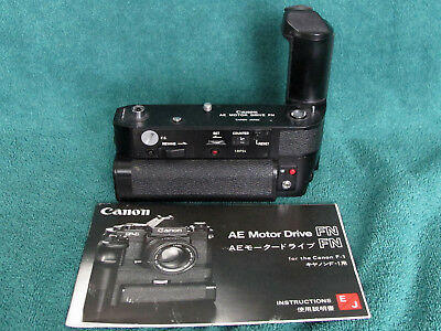 Canon AE Motor Drive FN with Battery Pack for New F-1 Camera Tested & Excellent!