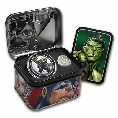 2014 Niue Marvel Avengers Incredible Hulk $2 Two Dollar Silver Proof Coin