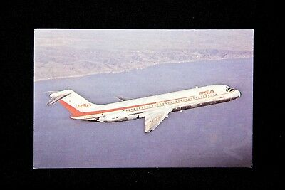 PSA Vintage Postcard DC-9-31 Pacific Southwest Airlines N982PS NEW Gift