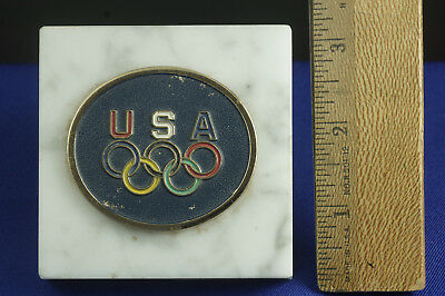 Medallion from XX Olympiad 1972 Issued by Sears, Roebuck & Co. Mounted on Marble