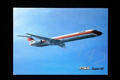 PSA Vintage Postcard Super 80 Pacific Southwest Airlines Serving 6 x 4 NEW Gift