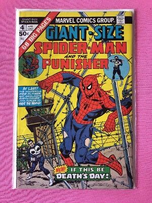 Giant-Size Spider-Man & The Punisher #4 (1975 APR Marvel Comics) 68 big pages