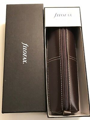 Filofax Case- Brown  Leather - Brand New With Box But No Tags -