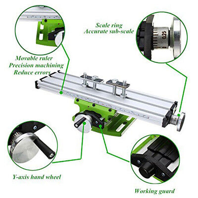 Milling Worktable Double track Work Table Cross Slide Drill Press Vise Fixture
