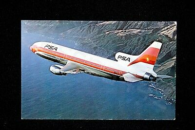 PSA Vintage L-1011 1975 California Postcard Pacific Southwest Airlines NEW Gift