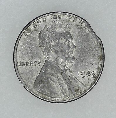 1943 Lincoln Wheat Steel Cent 1C Au / Bu About To Brilliant Uncirculated  (7635)
