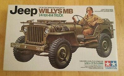 Jeep Willys MB 1/4 ton 4 x 4 truck Tamiya Kit 1/35 scale