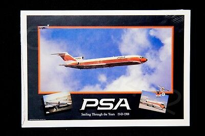 PSA Vintage Unopened Pack of 5 Postcards Pacific Southwest Airlines NEW Gift