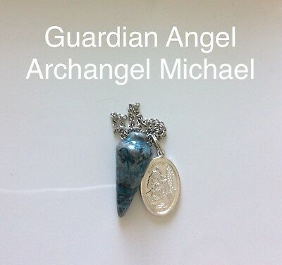 Code 275 Guardian Angel Archangel Michael Crazy Lace Agate Infused pendulum Boho