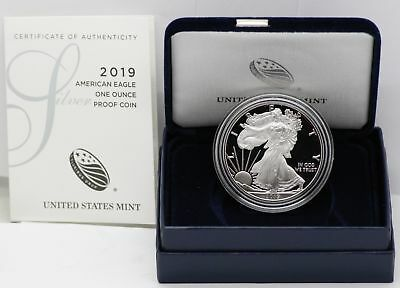 2019 American Eagle One Ounce Silver Proof Coin 1 oz - US Mint West Point LE269