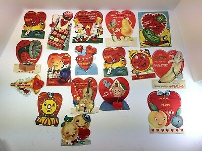 Vintage Lot of 31 Valentine Day Cards ANTHROPOMORPHIC