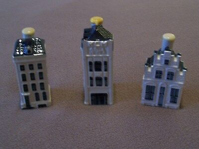 klm delft blue houses #74 #75 #76 Sealed with liquid