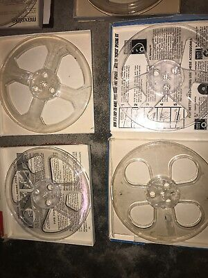 Various Brand Name Clear Plastic Empty Take-Up Reel-To-Reel 7 Inch Free S&h