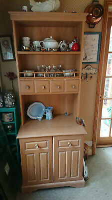 Country Style Solid Oak light Wood Welsh Dresser Excellent condition