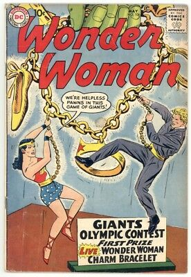 Wonder Woman #106 F- 5.5 Scarce. Wonder Girl Story. 1959