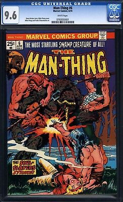 Man-Thing #6 CGC 9.6 white pages (Marvel Comics, 6/74) Mike Ploog