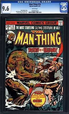 Man-Thing #16 CGC 9.6 white pages (Marvel Comics, 4/75) Gil Kane cover