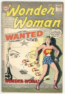 Wonder Woman #108 Vg+ 4.5 Classic Wanted Poster Cover. 1959